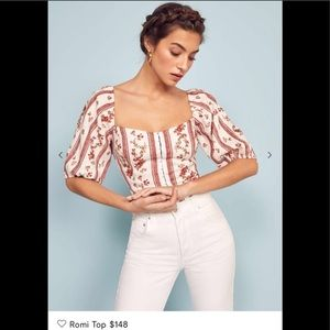 reformation romi floral top BNWT 2